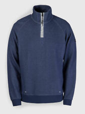 Weekend Offender Grier navy 100% cotton quarter zip sweatshirt size small-3XL