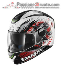 Casco integrale moto Shark Skwal Switch Rider white red bianco rosso