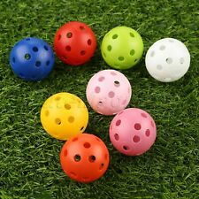 Airflow Hollow Perforated Plastic Golf Balls Outdoor Training Ball 10/20/50 Pcs