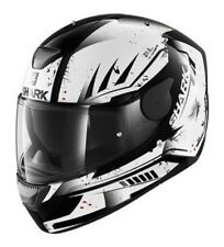 Helmet moto Shark D-Skwal Dharkov black white casco integral helm