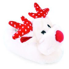 KIDS PLUSH NOVELTY 3D CHRISTMAS REINDEER SLIPPER SLIPPERS XMAS UK INFANT9-3 NEW
