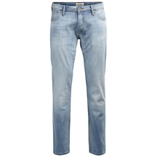 JACK & JONES Men's Jjitim Jjoriginal Ge 987 Noos Jeans, Blue Denim - NEW