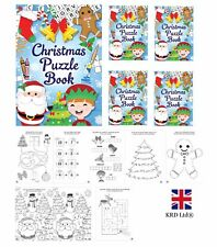 CHRISTMAS PUZZLE BOOKS Kids Birthday Party Bag Filler Favors Loot Toy Gift UK