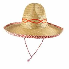 Unisex Straw Sombrero Hat Adut Mexican Fancy Dress Party Womens Hat Accessory