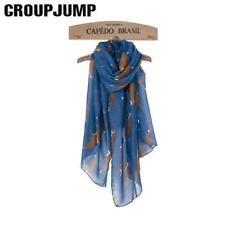 Women Scarf Scarves Fox Print Silk Scarf And Ladies Wraps Shawl Long And Soft