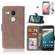 For Google LG Nexus 5X H790 H791 Flip Wallet Leather Case Cover Magntic Luxury
