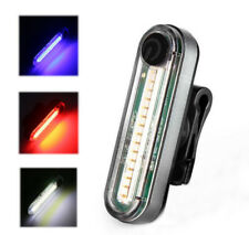 USB Rechargeable LED Bike Tail Light Cycling Bicycle Rear Safety Warning Lamp
