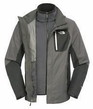 THE NORTH FACE MENS Zenith Triclimate Chaqueta, talla XXL, gris / Negro
