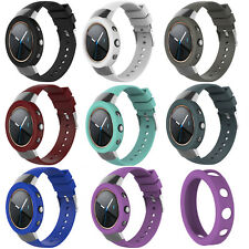 Premium Silicone Rubber Watch Band Wrist Strap + Shell Case for ASUS ZenWatch 3