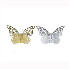 50x Butterfly Paper Napkin Ring Holders Home Wedding Party Table Decoration  D