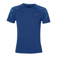 Asics Stripe Short Sleeve Mens Running T-Shirt Tee