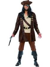 MENS BUCCANEER COSTUME PIRATE CARIBBEAN JACK SPARROW FANCY DRESS OUTFIT & HAT