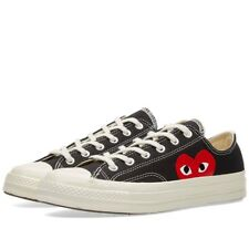 Comme des Garcons Play x Converse Chuck Taylor Black Low Sneakers Trainers Shoes