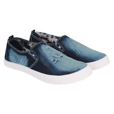 Axter Men's Canvas PVC Sole Blue Casual Loafer Shoes (361)