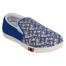 Axter Men's Canvas PVC Sole Blue Casual Loafer Shoes (370)