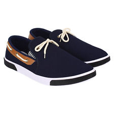 Axter Men's Canvas PVC Sole Blue Casual Loafer Shoes (417)