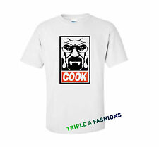 COOK white T shirt DOPE / MICKEY HAND/ Heisenberg bad walter HOMERS HOMIES OBEY
