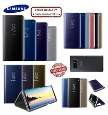 Samsung Galaxy Note 8 Clear View Mirror Leather Flip Wallet Stand Case Cover New