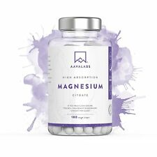 Magnesium Citrate Supplement 400 Mg 180 Caps Pure, Healthy Bones & Muscle