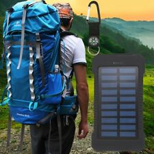 300000mAh Dual USB Portable Solar Battery Charger Solar Power Bank @