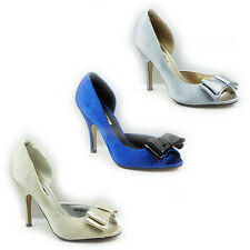 WOMENS LADIES HIGH STILETTO HEEL PEEP TOE CUT OUT COURT SHOES SANDALS SIZE 3-8