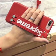 Supreme Phone Case Cover For iPhone 6/7/8 & 6/7/8/ + PLUS Black OR Red UK Seller
