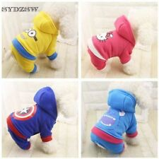 Cartoon Printed Pet Costume Autumn and Winter Dog Clothes Brand Small Dog Coat f