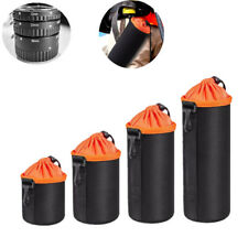 S M L XL Protector Neoprene DSLR Camera Lens Pouch Bag Case For Canon Nikon Sony