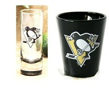 PITTSBURGH PENGUINS SHOT GLASS NHL CLEAR CORDIAL SHOOTER OR SHOT GLASS YOU PICK0