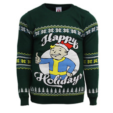 Fallout Official Happy Holidays Vault Boy Christmas Xmas Jumper / Sweater