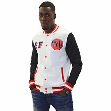 Street Fighter Official Ryu Black White & Red Unisex Varsity Jacket