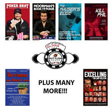 POKER BOOKS WIDE SELECTION OF STRATEGY BOOKS AND AUTOBIOGRAPHIES  *BRAND NEW*