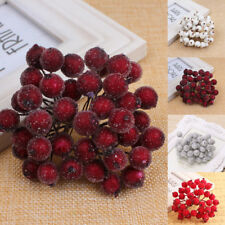 40pcs Mini Christmas Foam Frosted Fruit-Artificial Holly Berry Flower Home Decor