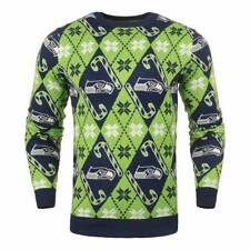 Forever cellectibles Seattle Seahawks Candy Cane ras du cou NFL Ugly sweat