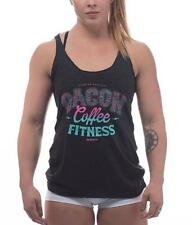 ROKFIT WOMEN THE TRIFECTA 2.0 - BACON, COFFEE & FITNESS TANK TOP CrossFit