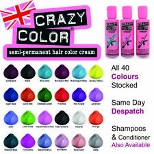 Crazy Colour Semi Permanent Hair Dye 100ml All Colours