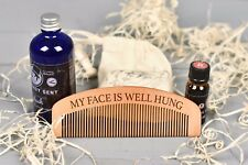 Personalised Beard Comb, Hair and Beauty, Mens Grooming Gift, Beard Oils.