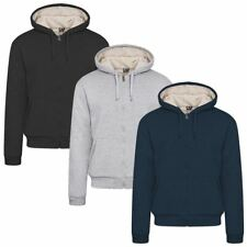 Brand New Mens Winter Hooded Jacket Sweatshirt Thicken Fleece Fur,lined Hoodie