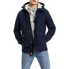 GIACCONE UOMO TOMMY HILFIGER THDM SHERPA HOOD LINED JKT 38 COLORE BLU - DM0DM...