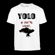 Yolo if You`re Lucky Zombie T-Shirt Top Trends - Youth Sizes