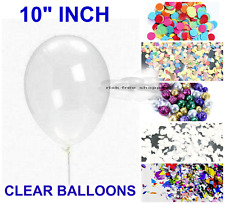 "6 Clear Transparent Confetti Filled Balloon 10"",12"",18"",36"" Helium Quality Party"