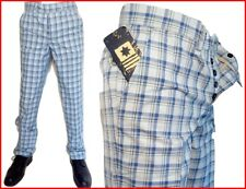 Pantalone ,Marca Thirtyfive Milano, Made in Italy, Nuovo , cotone , blu scozzese