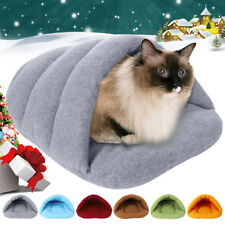 Pet Dog Cat Bed Puppy Nest Kennel Cozy Soft Warm Cave House Sleeping Bag Mat Pad