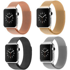 Magnetic Milanese Loop Stainless Steel Strap Watch Bands For Apple Watch 38/42MM
