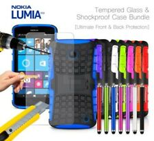 NOKIA LUMIA 630 anti-urto CORAZZA CUSTODIA COVER , STILO & VETRO TEMPERATO