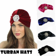 Women Stretch Velvet Turban Hat Soft Headwrap Bandana Ladies Muslim Scarf Hijab