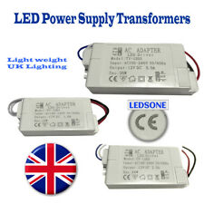 DC Power Supply White Case Quality Transformer 240V DC12V 12W/24W/36W UK Lights