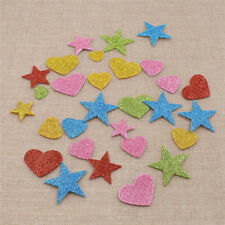 DIY Shining Heart Star Design Stickers Glitter Pentagram Home Party Phone Decor