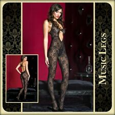 Bodystocking in pizzo nero 1420 Music Legs Lingerie Sexy Toy Erotic Lingerie xxx