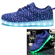 USB Rechargeable Unisex LED Light Up Luminous Sneakers Lace Dance Glowing Shoes